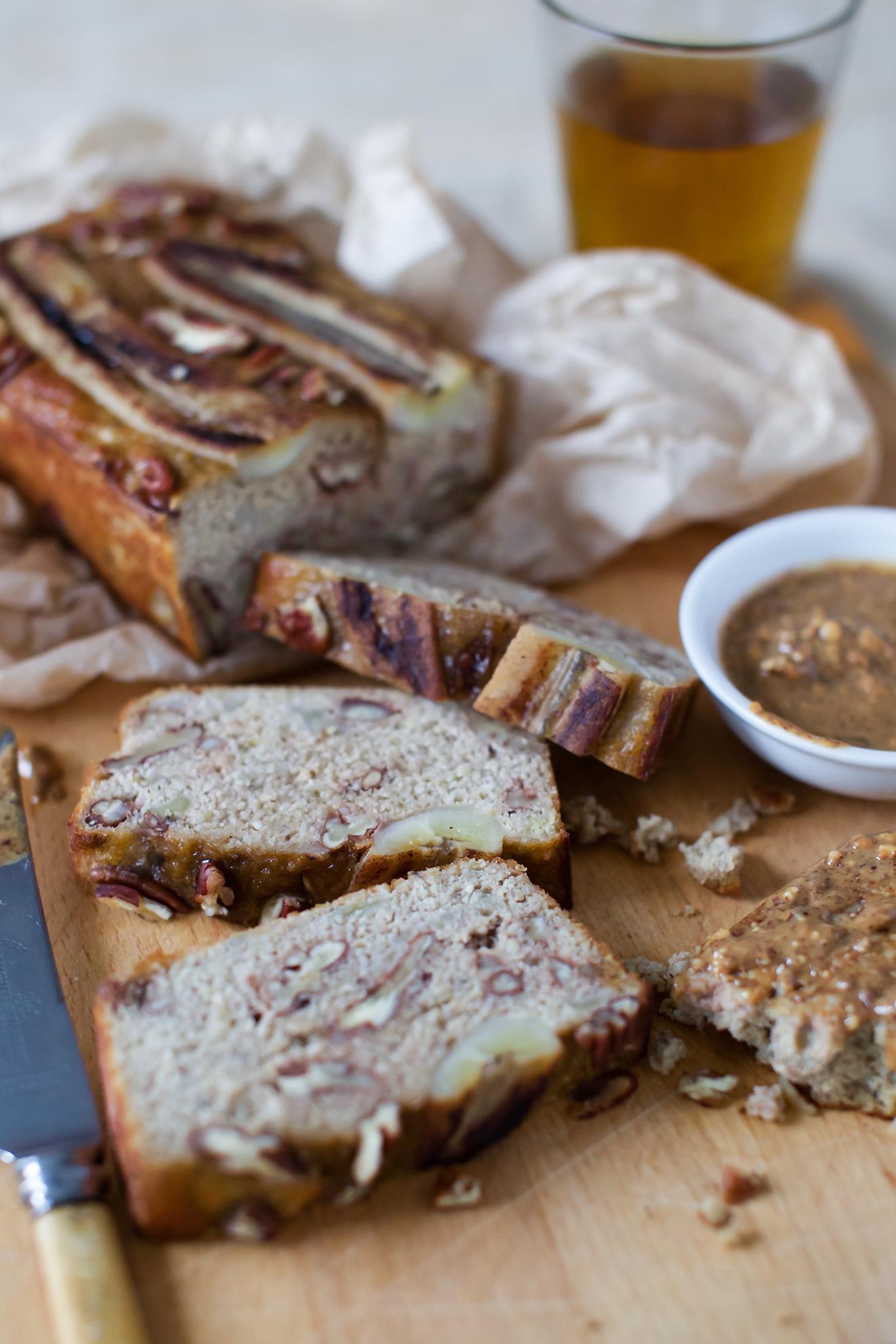 Paleo Pecan Banana Bread
