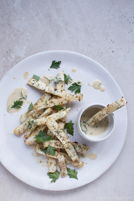 roasted celeriac fries