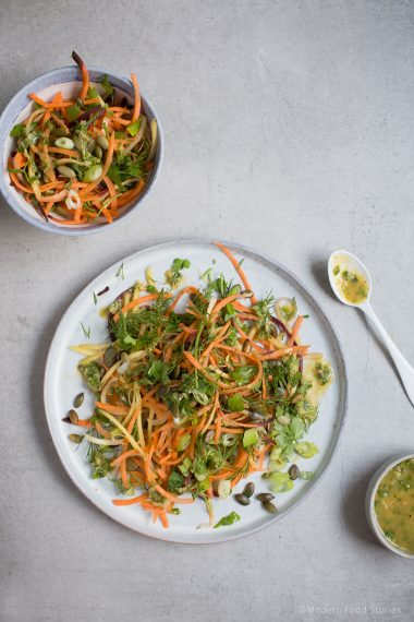 carrot slaw, Paleo, Keto, i quit sugar, low carb recipes, healthy salad, gluten free, grain free, gluten free recipes, salad, Paleo lunch, carrot salad, Modern Food Stories, food photography, AIP,