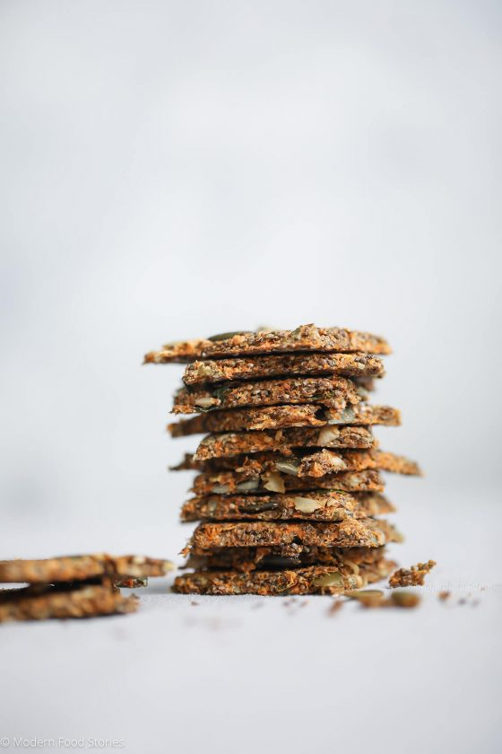 grain free cracker recipe, Paleo Crackers, low carb cracker recipe, Keto cracker recipe, Whole30 cracker recipe, Wheat free crackers, Grain free crackers, Modern Food Stories, Paleo Crust, food photographer, london food photographer, GAPs recipes, Paleo snack recipes, Keto cracker recipe,