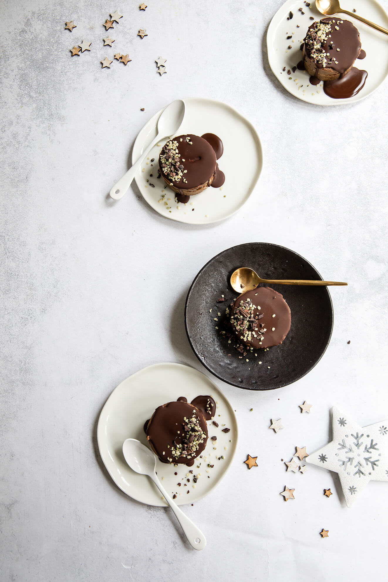 Raw Vegan Chocolate Orange and Chestnut Cakes