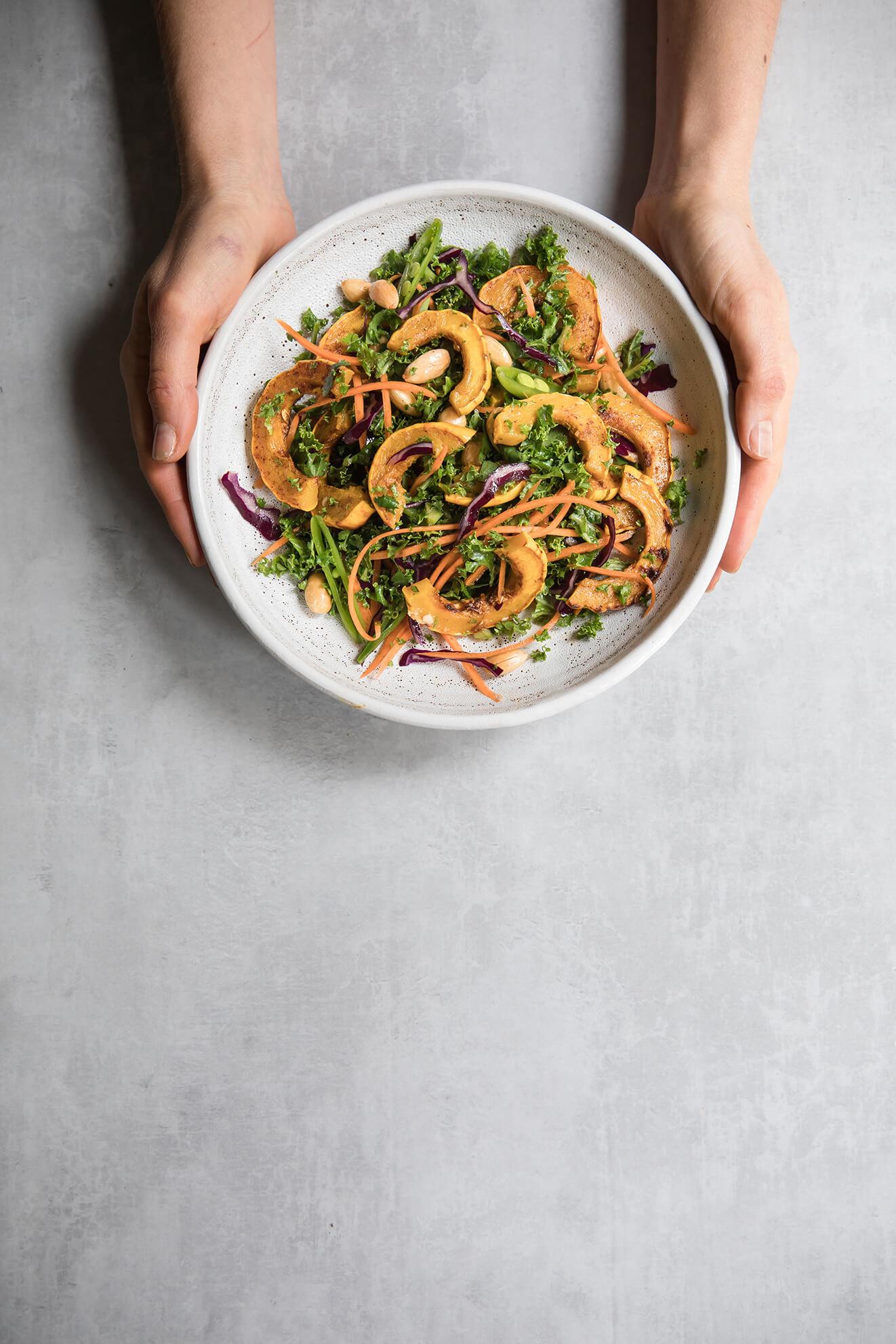 vegetarian Thai salad, food photography
