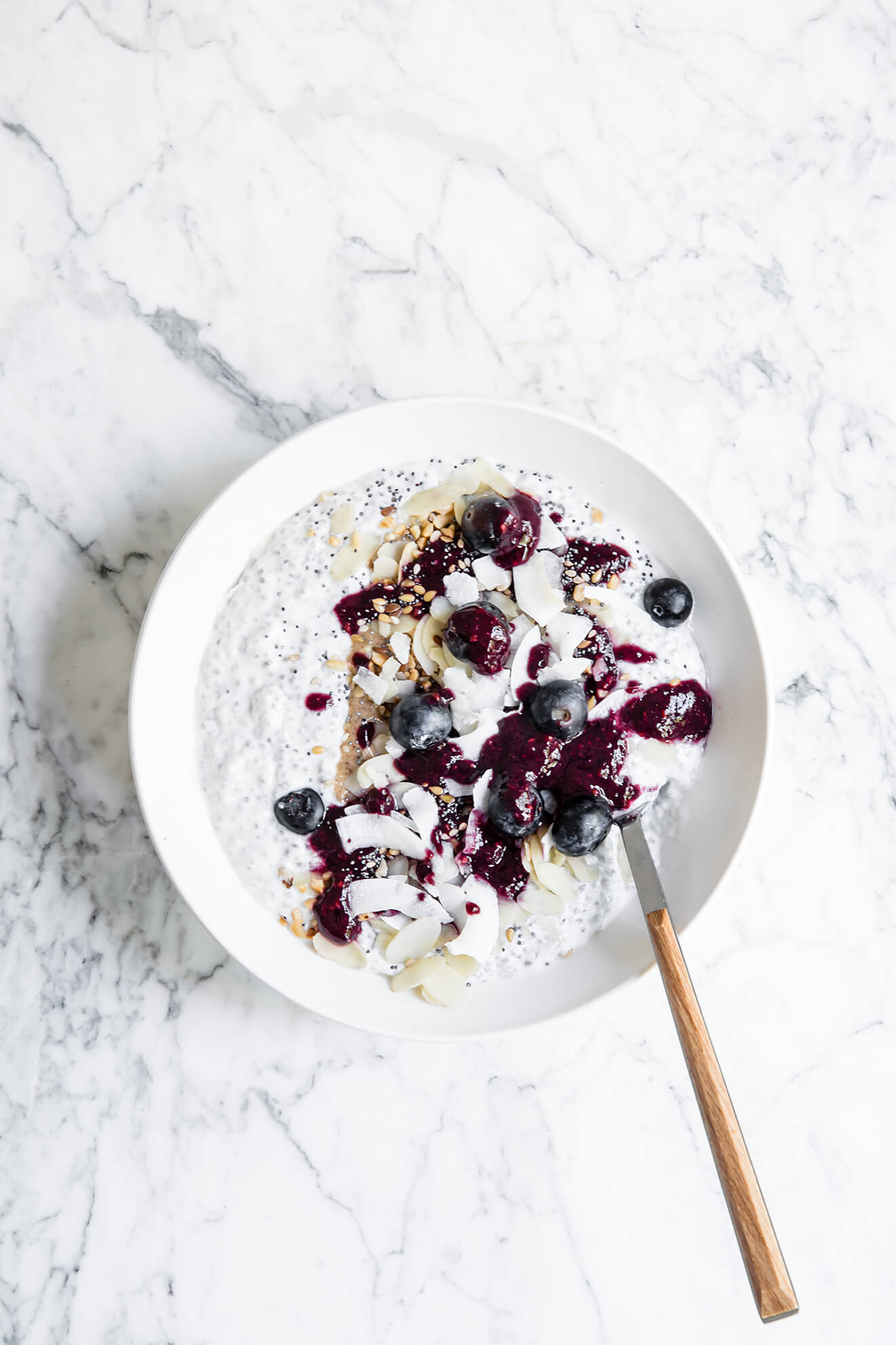 Blueberry chia bowl, Modern Food Stories, London Food Photographer