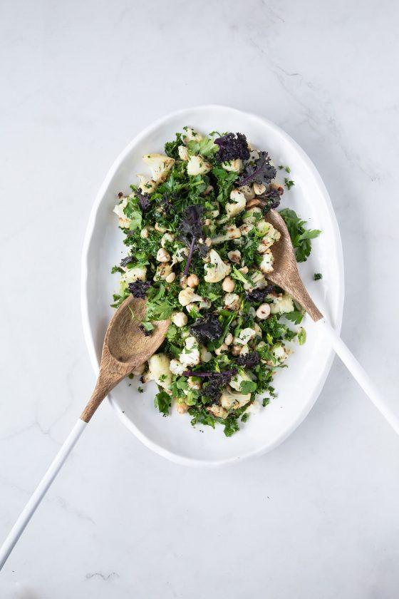 Roast Cauliflower, Kale and Hazelnut Salad, Modern Food Stories, Cauliflower recipes