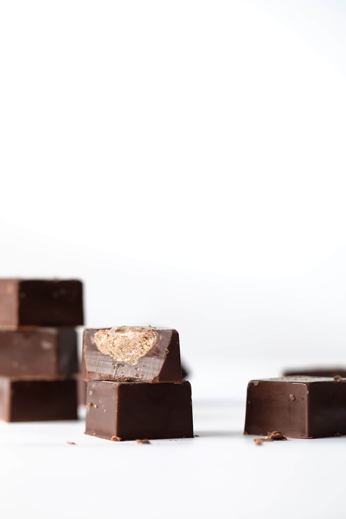 Double Almond Butter Chocolates, healthy chocolate, sugar free chocolate, Modern Food Stories