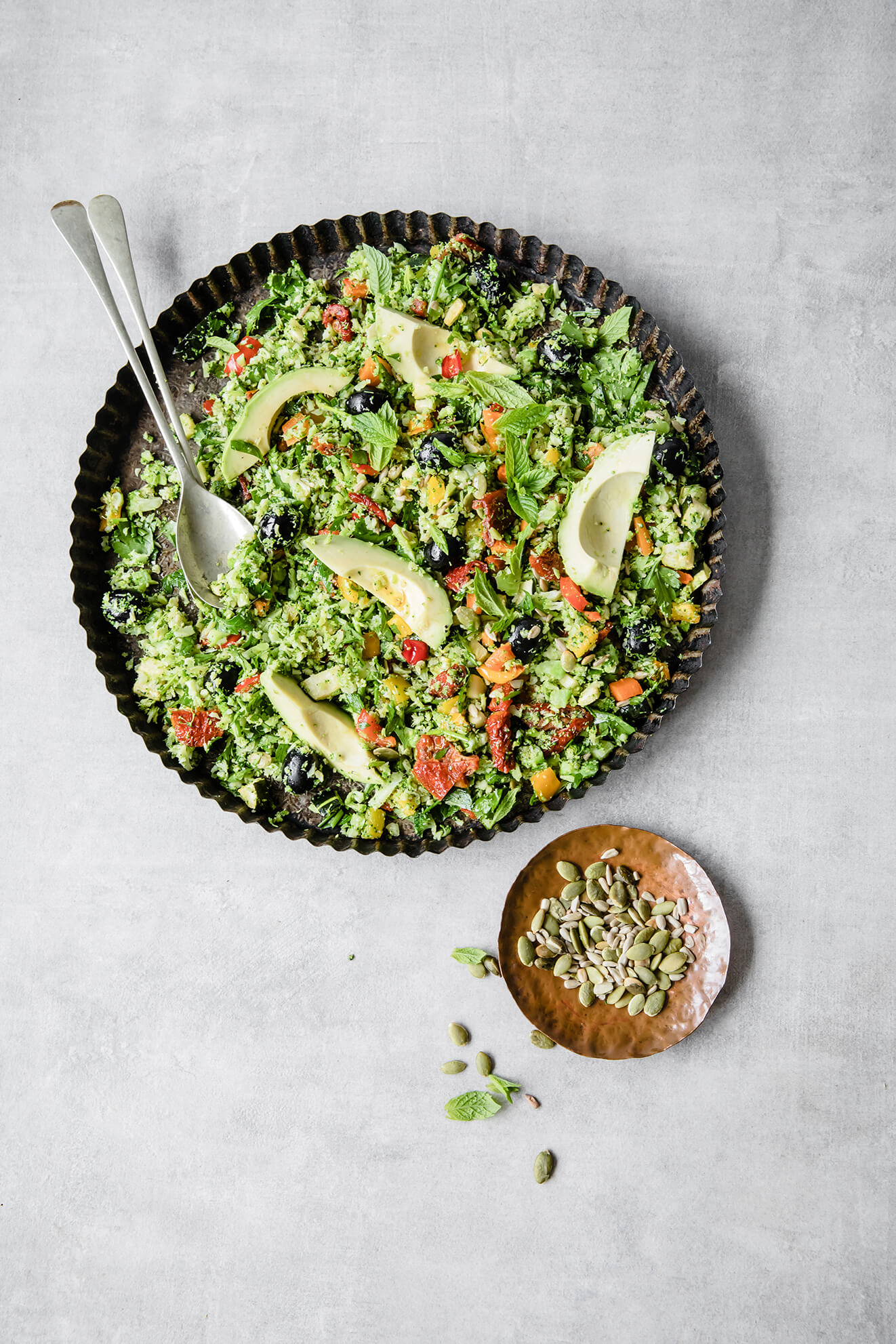 Broccoli Rice Tabbouleh, Modern Food Stories, Plant based recipes