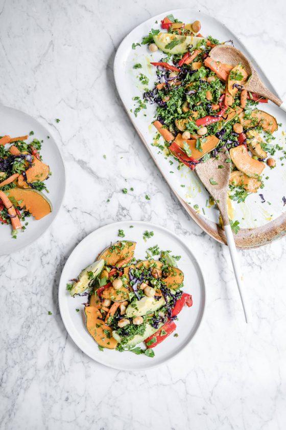 Low Carb Pumpkin Salad, london food photographer