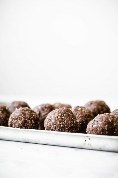 Super Green Cacao Energy Balls, Modern Food Stories, Food Photography