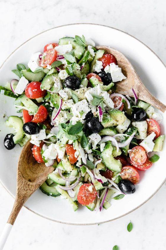 Greek Salad, Modern Food Stories, Food Photographer, vegan Greek salad