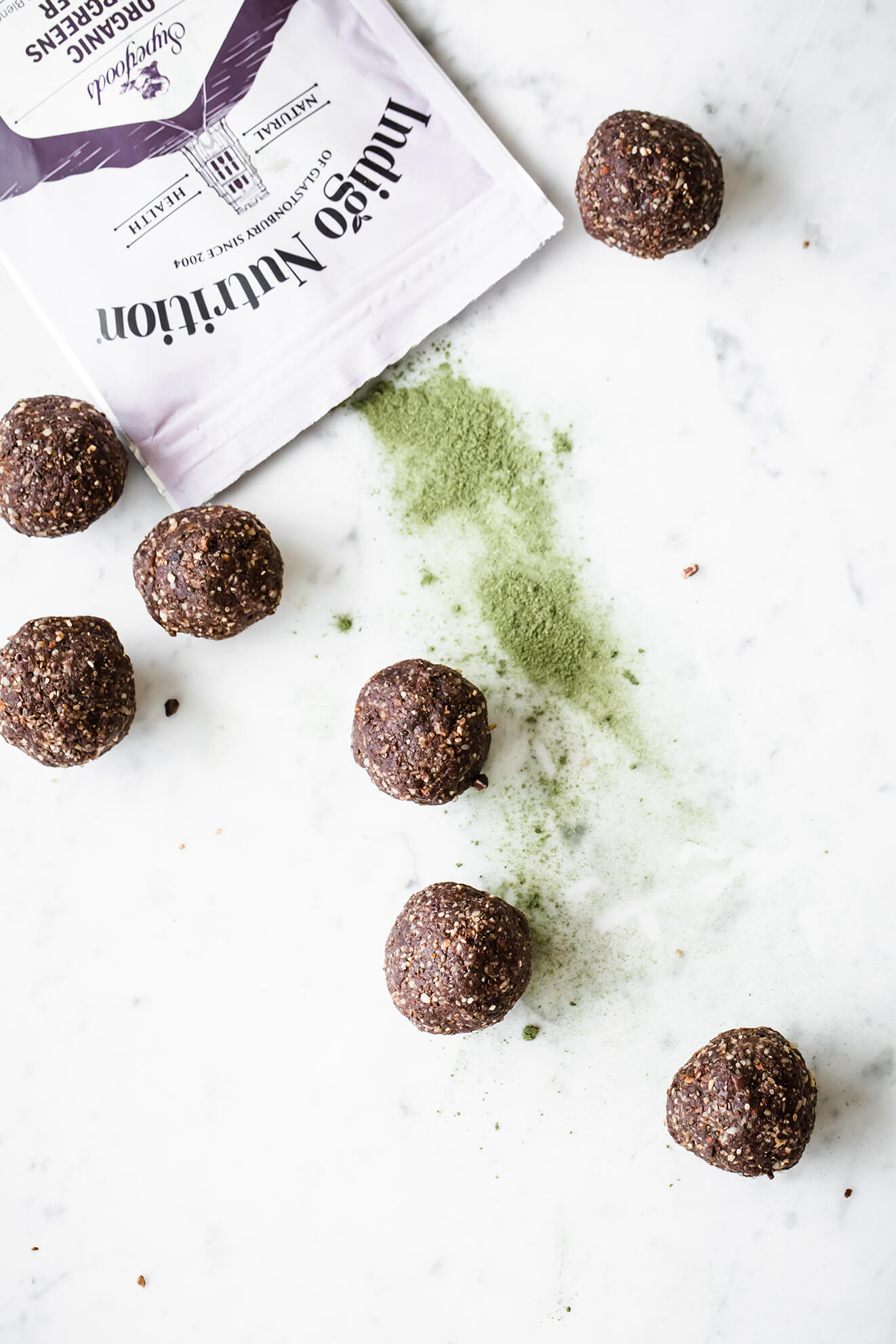 Super Green Cacao Energy Balls, Modern Food Stories, Indigo Herbs