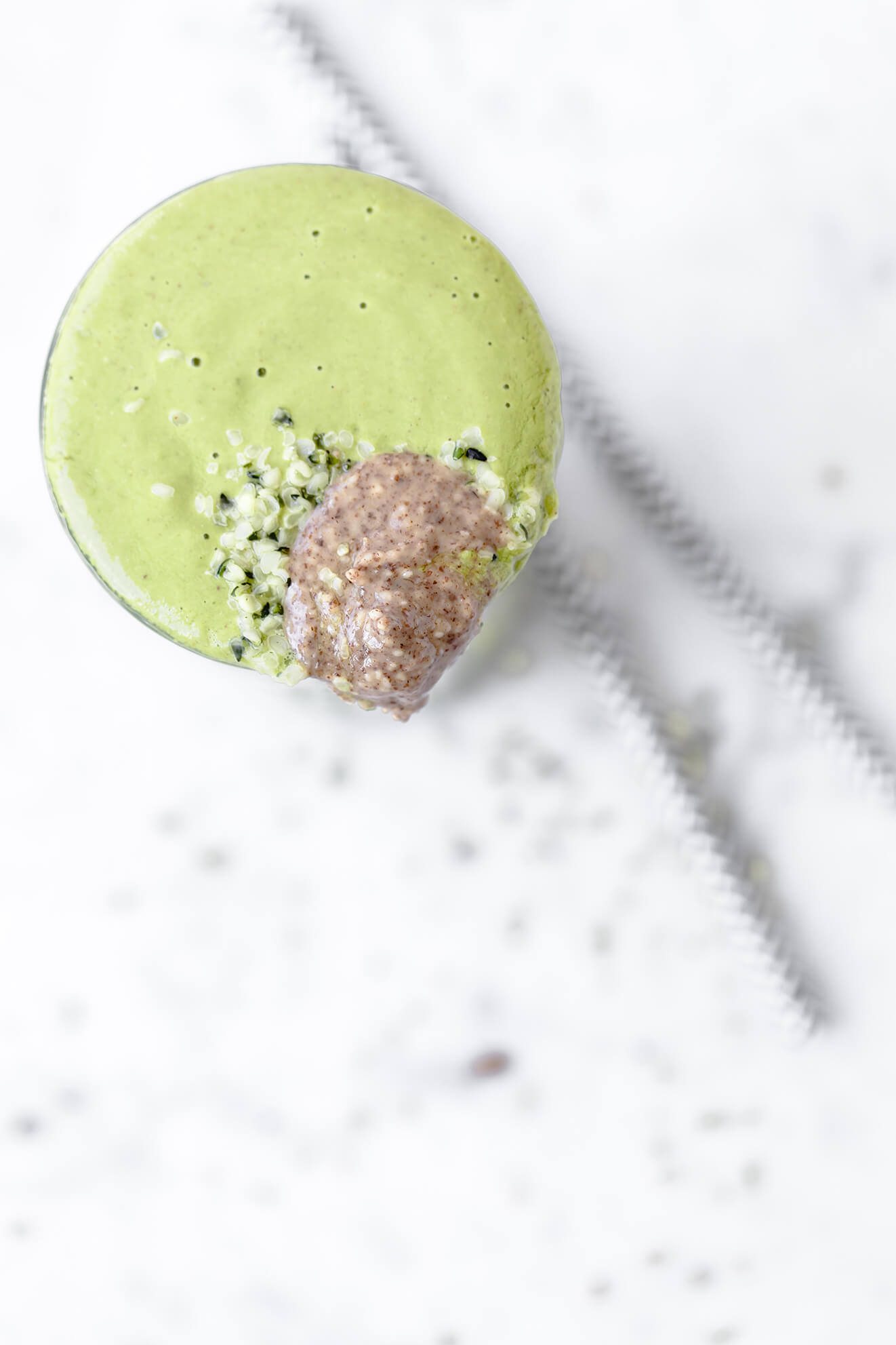 Kale and Almond Butter Smoothie, Modern Food Stories, smoothie food photography,