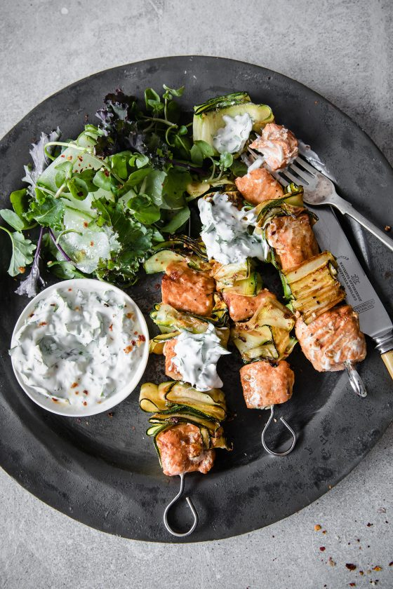 Paprika & Lime Salmon Kebabs, Modern Food Stories, Food Photography