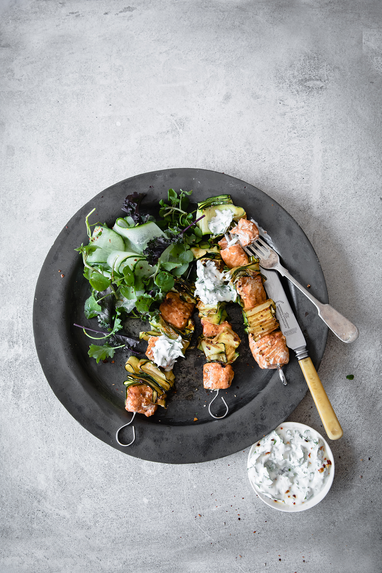 Salmon Kebabs, Modern Food Stories, Food Photography