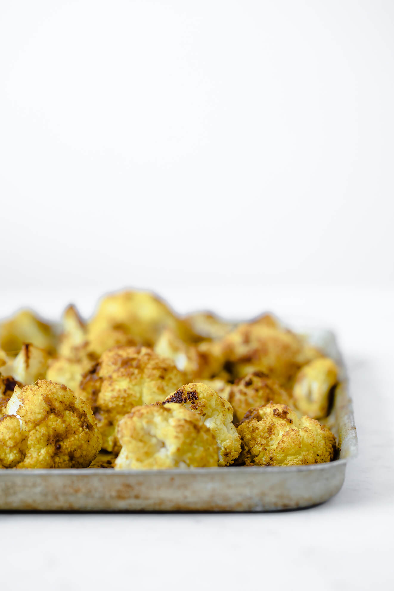 Roasted Cauliflower, Curried cauliflower, roast cauliflower recipe, Modern Food Stories, food photography