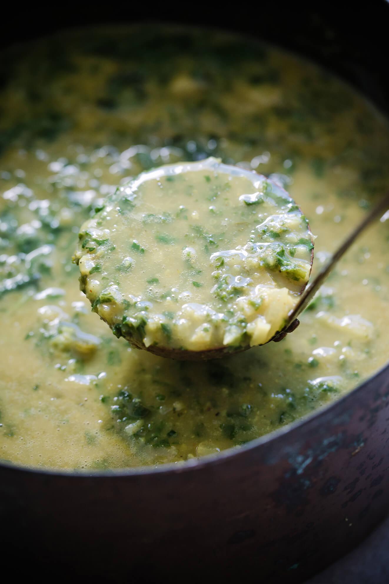 vegan cauliflower soup, Modern Food Stories, london food photographer