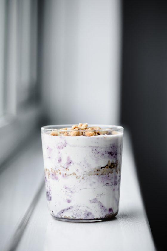 Vegan Blackberry Parfait, vegan parfait, vegan dessert, food photography, Modern Food Stories