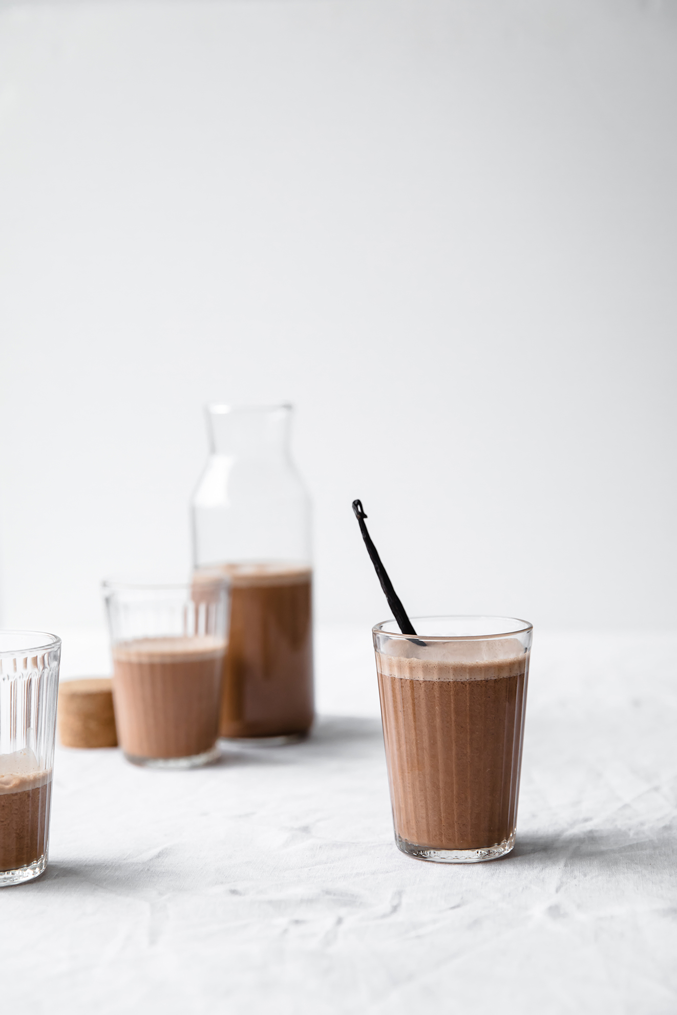 chocolate mylk, chocolate collagen almond mylk, vegan chocolate mylk, food photography, Modern Food Stories, London food photographer