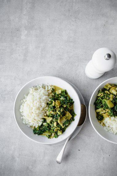 vegan recipes, vegan curry, Nourishing Vegan Kale and Spinach Curry, food photographer, recipe developer