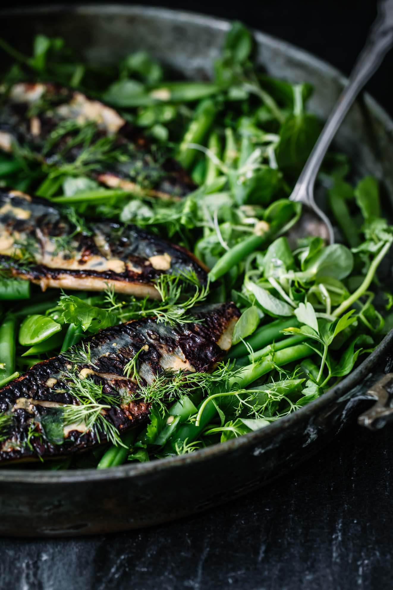 Devilled Mackerel Salad