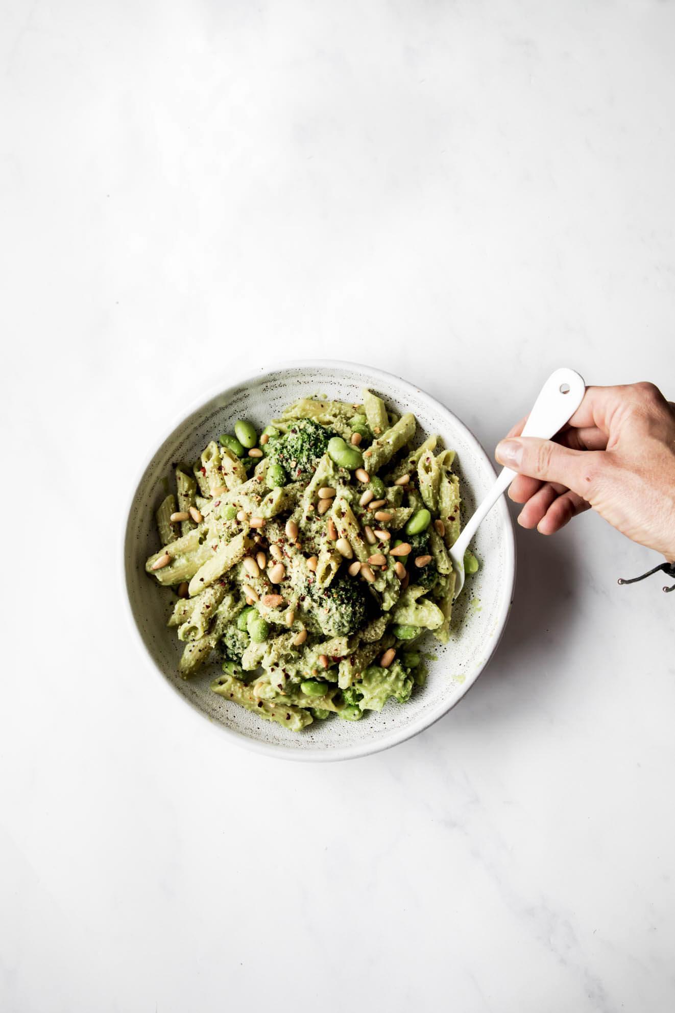 Vegan pasta recipe, food photographer, easy vegan recipes