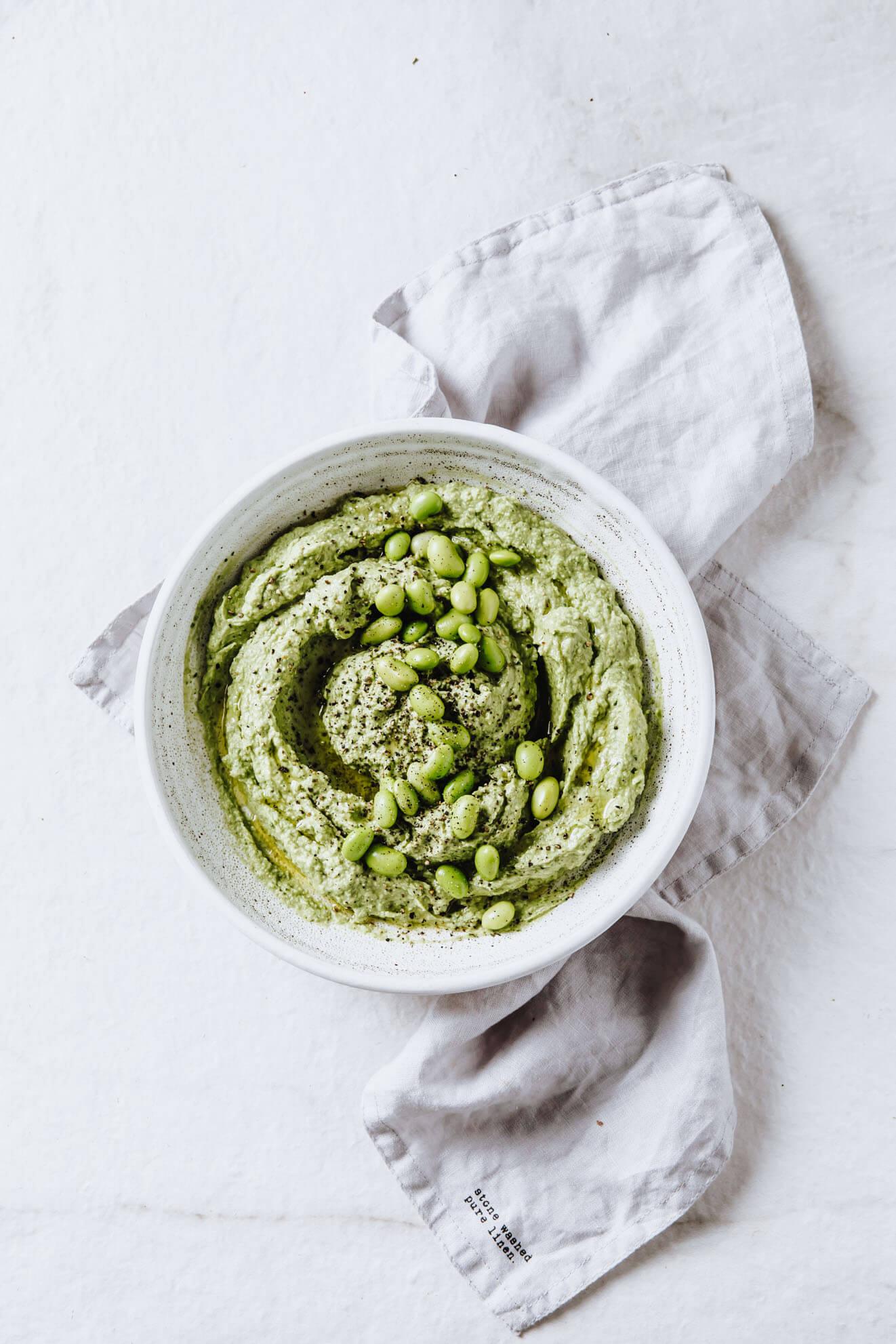 Vegan Avocado and Edamame Dip