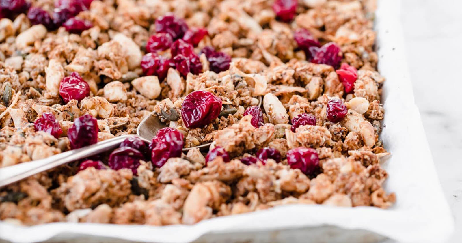 Low-Carb Cranberry Spiced Granola - Food Videography Produced for KetoDiet