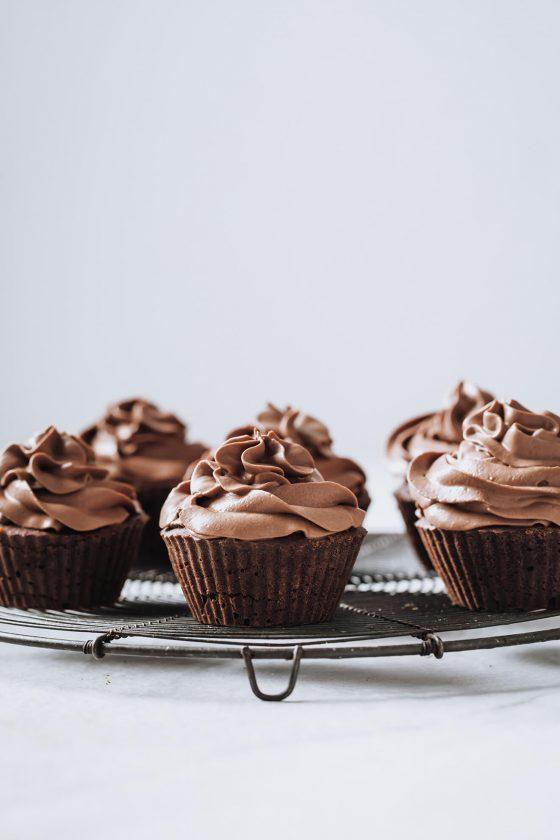 fluffy Vegan Chocolate Muffins