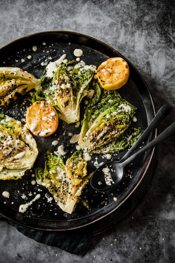 Chargrilled Baby Gem Lettuce with Lemon Tahini