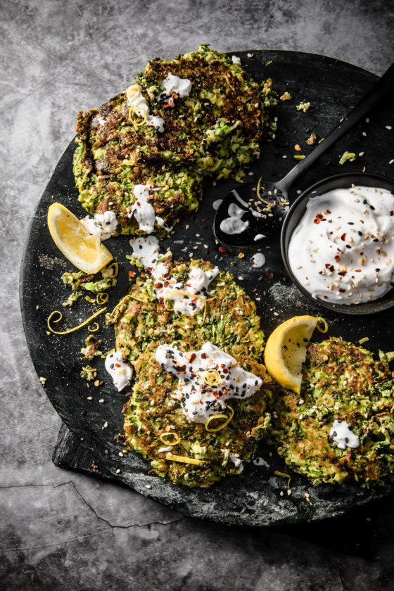 CLean Out The Fridge Green vegan Fritters
