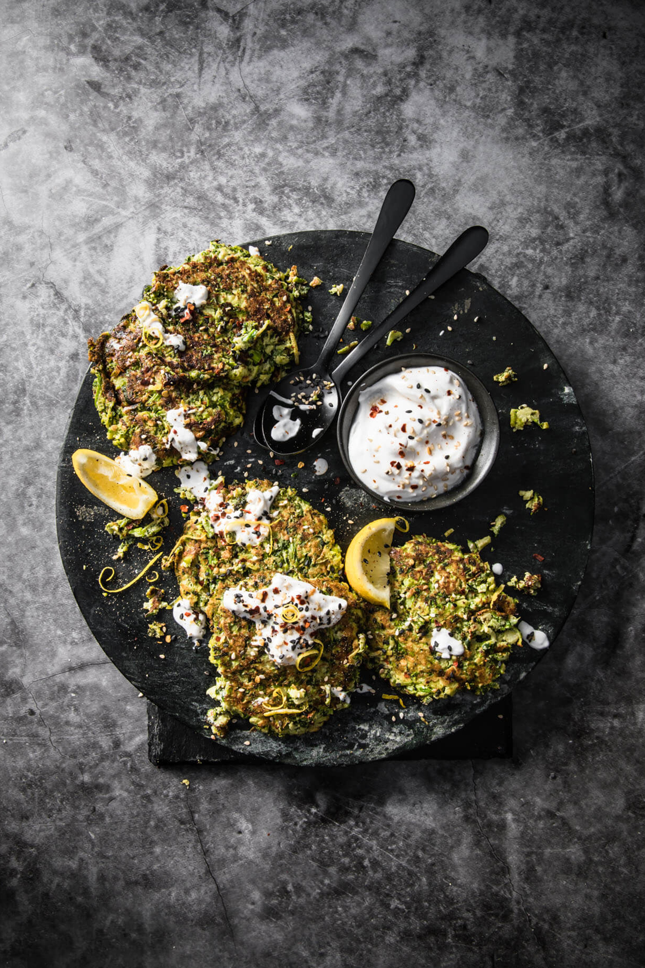 Green Vegan Fritters