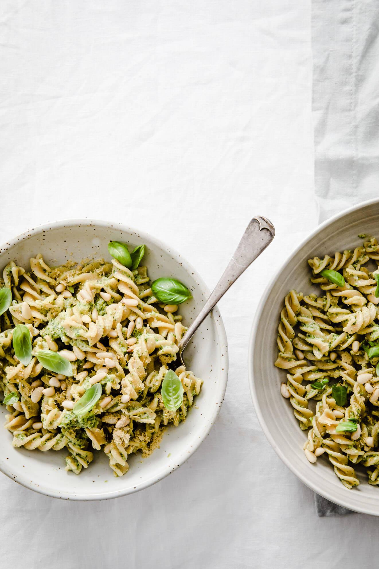 Vegan Pesto Pasta with Lentil Pasta