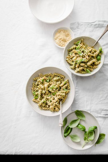 Nut Free Vegan Pesto Pasta