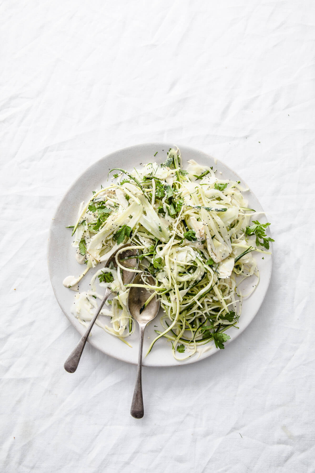 green vegan slaw