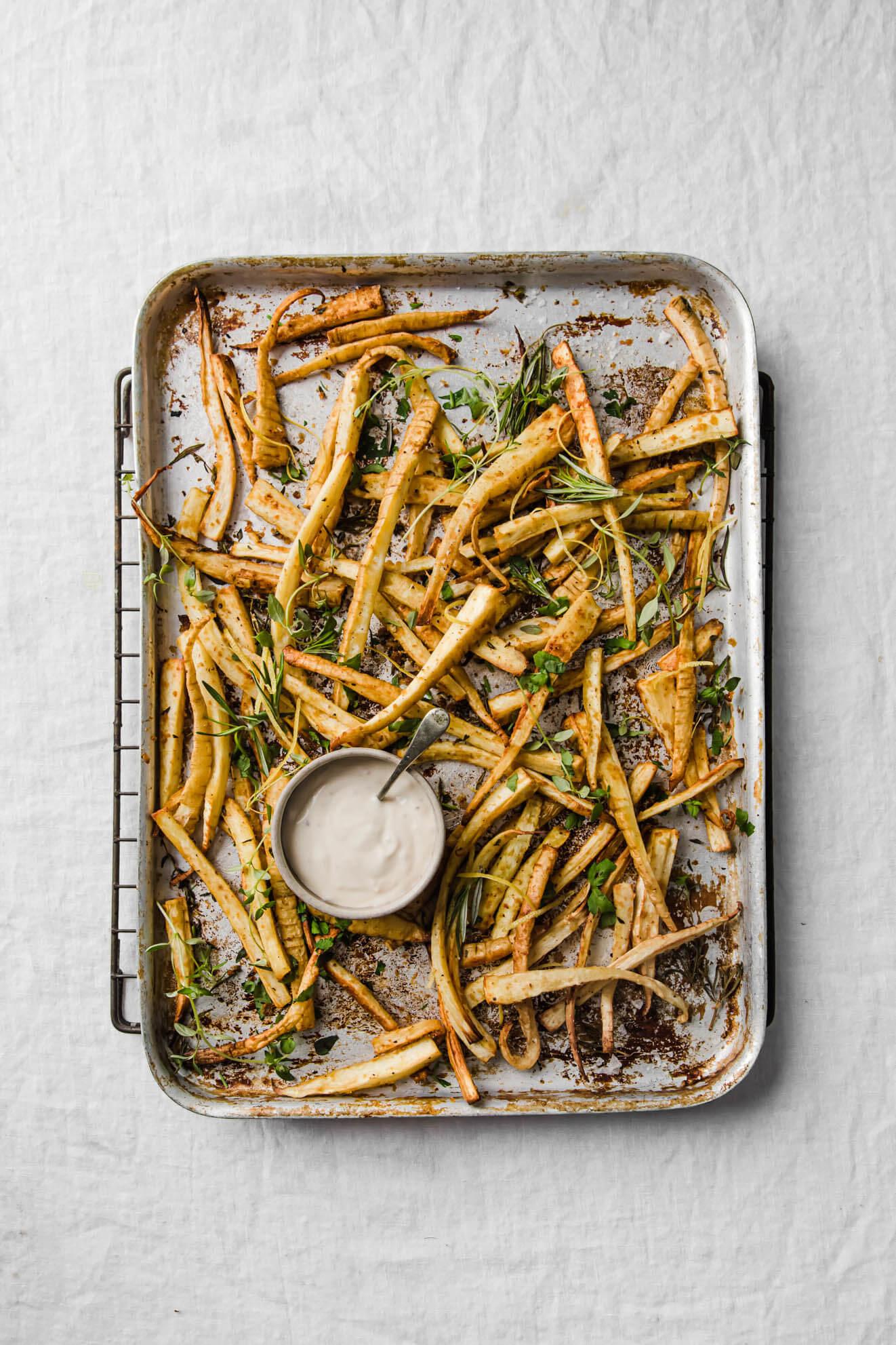Baked Parsnip Fries Modern Food Stories