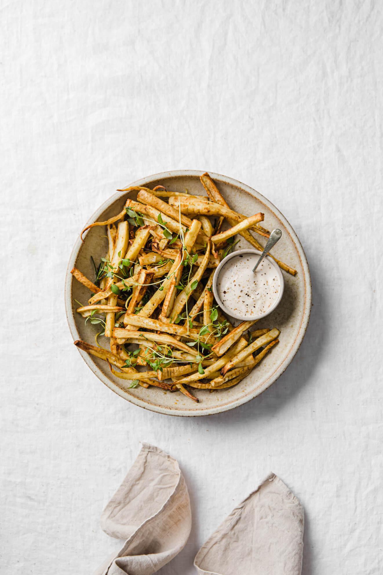 Modern Food Stories Baked Parsnip Fries
