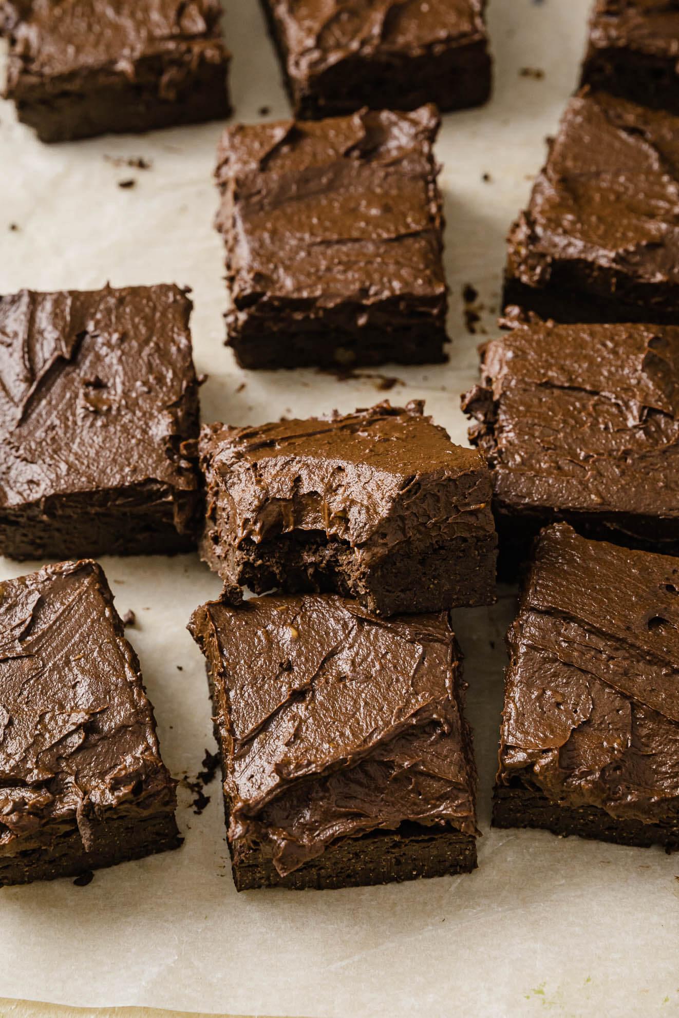 Vegan Keto Chocolate Avocado Brownies (Nut free)