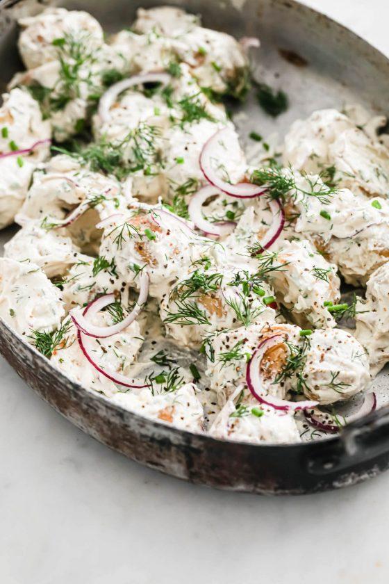 Vegan Roast Potato Salad