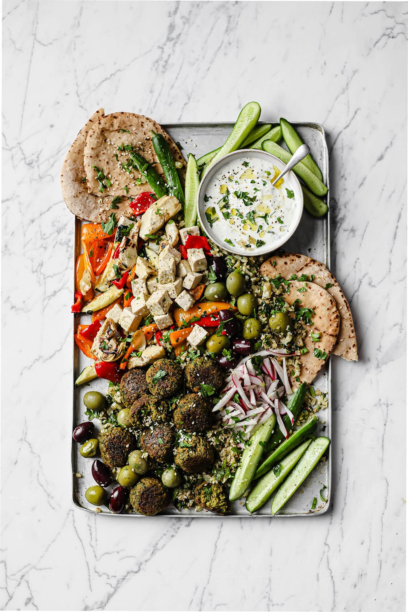 Falafel mezze food photography